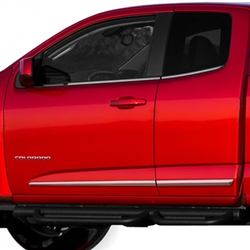 GMC Canyon Chrome Lower Door Moldings, 2015, 2016, 2017