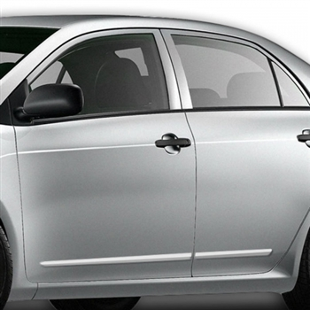 Toyota Corolla Chrome Lower Door Moldings, 2009, 2010, 2011, 2012, 2013