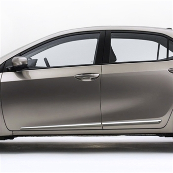Toyota Corolla Chrome Lower Door Moldings, 2014, 2015, 2016, 2017, 2018