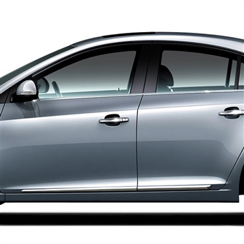 Chevrolet Cruze Chrome Lower Door Mouldings, 2011, 2012, 2013, 2014, 2015