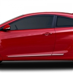 Hyundai Elantra Sedan Chrome Lower Door Moldings, 2011, 2012, 2013, 2014, 2015, 2016
