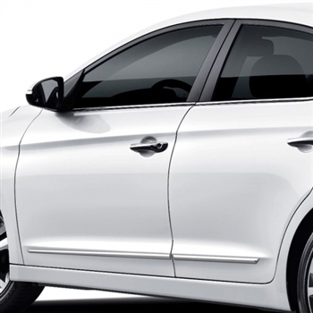 Hyundai Elantra Chrome Lower Door Moldings, 2017, 2018