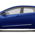 Hyundai Elantra GT Chrome Lower Door Moldings, 2013, 2014, 2015, 2016, 2017