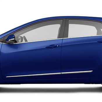 Hyundai Elantra GT Chrome Lower Door Moldings, 2013, 2014, 2015, 2016