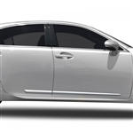 Lexus ES350 Chrome Lower Door Moldings, 2007, 2008, 2009, 2010, 2011, 2012, 2013, 2014, 2015, 2016, 2017