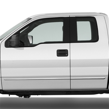 Ford F150 Chrome Door Moldings, 2004, 2005, 2006, 2007, 2008, 2009, 2010, 2011, 2012, 2013, 2014