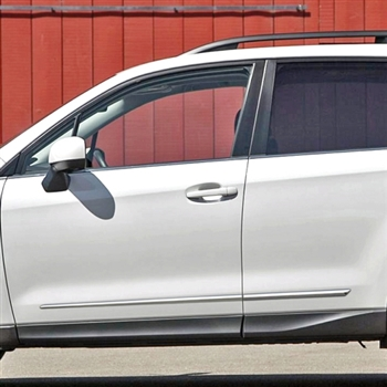Subaru Forester Chrome Lower Door Moldings, 2009, 2010, 2011, 2012, 2013, 2014, 2015, 2016, 2017