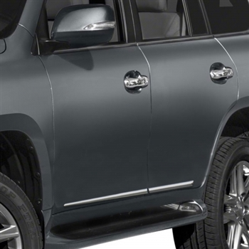 Lexus GX460 Chrome Lower Door Moldings, 2010, 2011, 2012, 2013, 2014, 2015, 2016