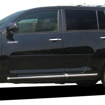 Toyota Highlander Chrome Lower Door Moldings, 2008, 2009, 2010, 2011, 2012, 2013