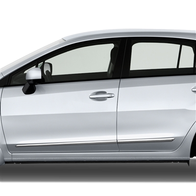 Subaru Impreza Chrome Lower Door Moldings, 2012, 2013, 2014, 2015, 2016