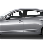 Mazda 6 Chrome Lower Door Moldings, 2014, 2015, 2016, 2017