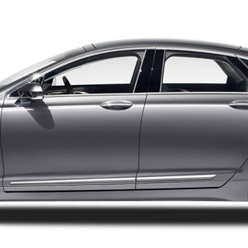 Lincoln MKZ Chrome Lower Door Moldings, 2013, 2014, 2015, 2016, 2017, 2018