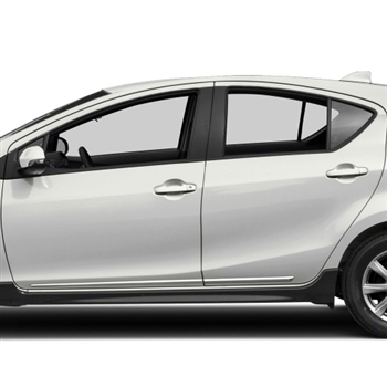 Toyota Prius C Chrome Lower Door Moldings, 2012, 2013, 2014, 2015, 2016, 2017, 2018