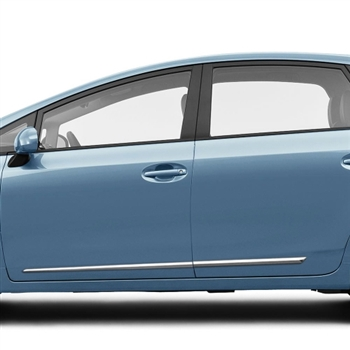 Toyota Prius V Chrome Lower Door Moldings, 2012, 2013, 2014, 2015, 2016, 2017