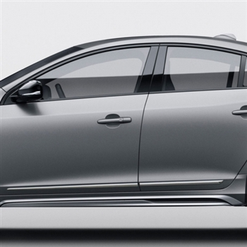 Volvo S60 Chrome Lower Door Moldings, 2010, 2011, 2012, 2013, 2014, 2015, 2016
