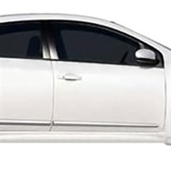 Nissan Sentra Chrome Lower Door Moldings, 2007, 2008, 2009, 2010, 2011, 2012