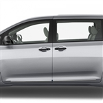 Toyota Sienna Chrome Lower Door Moldings, 2011, 2012, 2013, 2014, 2015, 2016, 2017