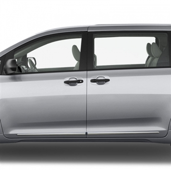 Toyota Sienna Chrome Lower Door Moldings, 2011, 2012, 2013, 2014, 2015