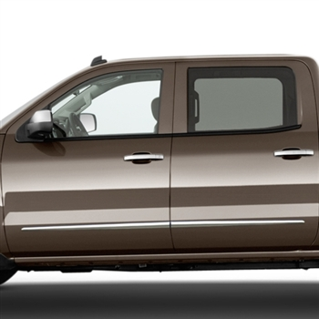 GMC Sierra Chrome Door Molding Accents, 2014, 2015, 2016, 2017