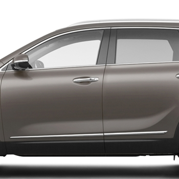 Kia Sorento Chrome Lower Door Moldings, 2011, 2012, 2013, 2014, 2015, 2016, 2017