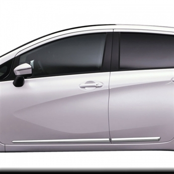 Nissan Versa Note Chrome Lower Door Moldings, 2014, 2015, 2016