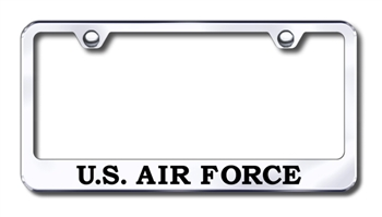 Air Force Premium Chrome License Plate Frame