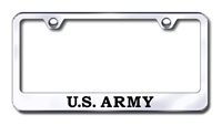 Army Premium Chrome License Plate Frame