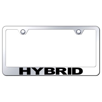 HYBRID Premium Show Chrome License Plate Frame