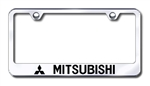 Mitsubishi Premium Chrome License Plate Frame