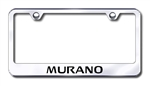 Nissan Murano Premium Brushed Stainless License Plate Frame