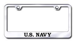 US NAVY Chrome License Plate Frame