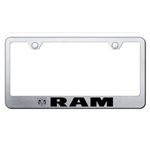 Ram Logo Design Premium Chrome License Plate Frame