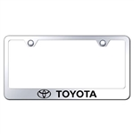 Toyota Chrome License Plate Frame