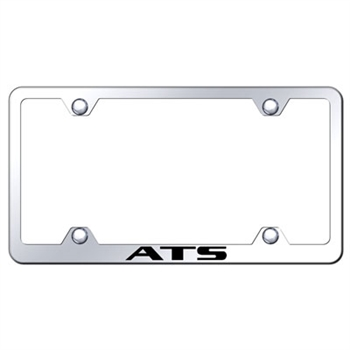 Cadillac ATS Laser Etched Chrome License Plate Frame