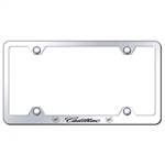 Cadillac Script Laser Etched Chrome License Plate Frame