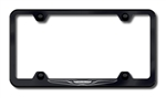 Chrysler 'New Logo' Black License Plate Frame
