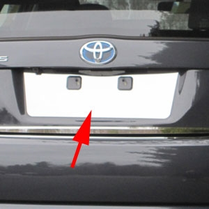 Toyota Prius Chrome License Plate Bezel, 2010, 2011, 2012, 2013, 2014, 2015