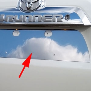 Toyota 4Runner Chrome License Plate Bezel, 2010, 2011, 2012, 2013, 2014, 2015, 2016, 2017
