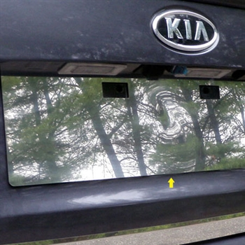 Kia Optima Chrome License Plate Bezel, 2011, 2012, 2013, 2014, 2015