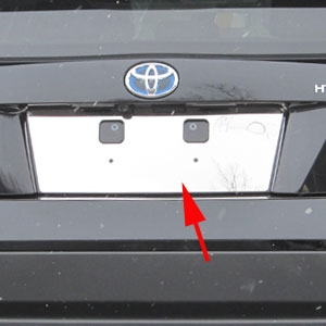 Toyota Prius Chrome License Plate Bezel, 2016
