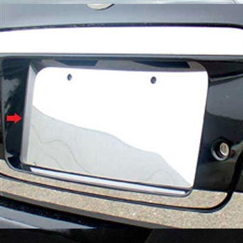 Nissan Altima Chrome License Plate Bezel Trim, 2002, 2003, 2004, 2005, 2006
