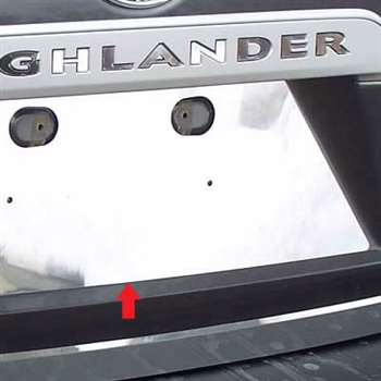 Toyota Highlander Chrome License Plate Bezel, 2008, 2009, 2010, 2011, 2012, 2013