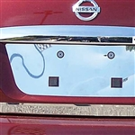 Nissan Maxima Chrome License Plate Bezel, 2009, 2010, 2011, 2012, 2013, 2014