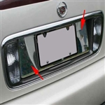 Cadillac Deville, DTS, DHS Chrome License Plate Bezel, 2000, 2001, 2002, 2003, 2004, 2005