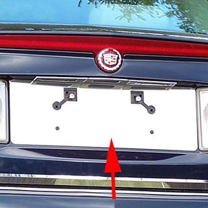 Cadillac STS Chrome License Plate Bezel, 2005, 2006, 2007, 2008, 2009, 2010, 2011