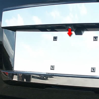 GMC Yukon Chrome License Plate Bezel, 2007, 2008, 2009, 2010, 2011, 2012, 2013, 2014