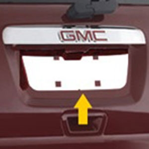 GMC Acadia Chrome License Plate Bezel, 2007, 2008, 2009, 2010, 2011, 2012
