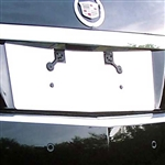 Cadillac CTS Sedan Chrome License Plate Bezel, 2008, 2009, 2010, 2011, 2012, 2013