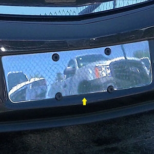 Buick Regal Chrome License Plate Bezel, 2011, 2012, 2013, 2014