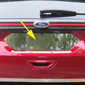 Ford Edge Chrome License Plate Bezel, 2015, 2016, 2017
